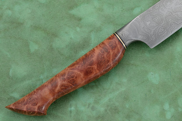 Slicer (5-1/2 in) with Red Mallee Burl and Damascus