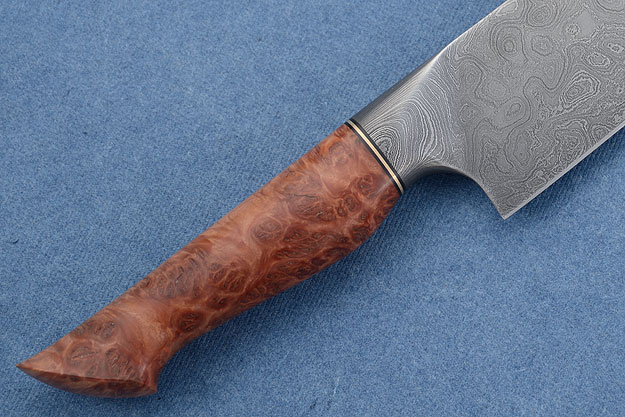 Chef's Knife (Santoku) with with Red Malle Burl (6.9 in)