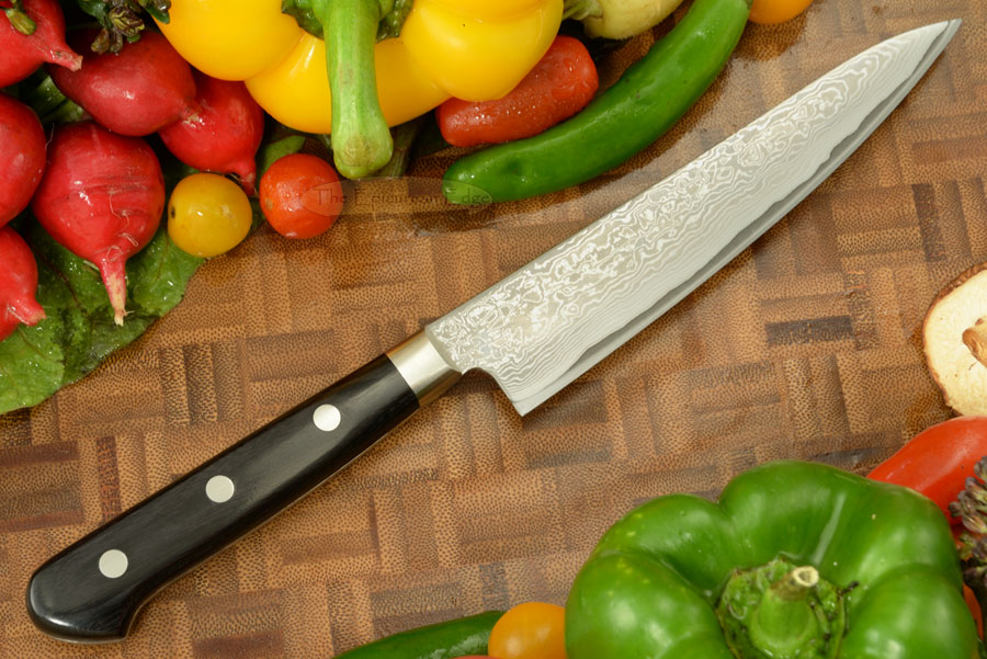 Damascus Utility Knife - Fruit Knife - 5 1/4 in. (135mm)