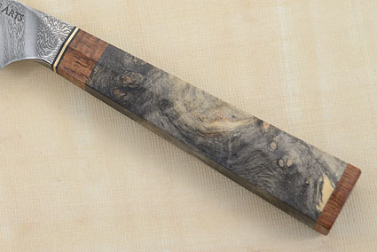 Paring Knife (Petty) with Buckeye Burl, Mango and Damascus (4 in.)