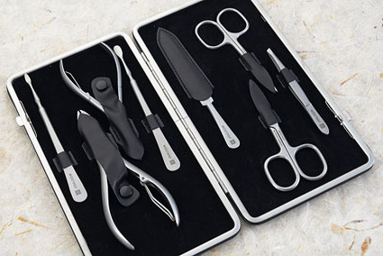 Manicure Set - 9 Pcs, Stainless Steel  (9133)