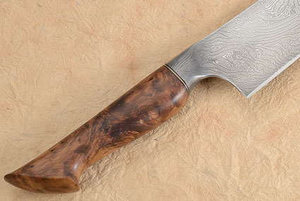 Chef's Knife (8-3/4 in) with Mosaic Damascus and Thuya Burl