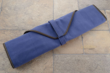 6 Slot Canvas Roll Knife Bag - Blue (CW132)