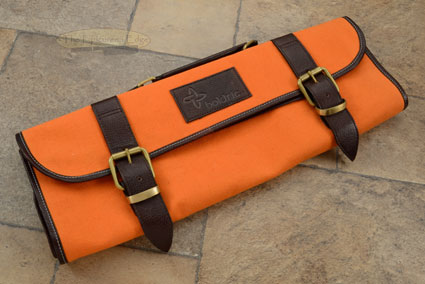 9 Slot Canvas Knife Roll - Orange (CKR112)