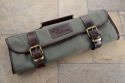 9 Slot Canvas Roll Knife Bag - Green (CKR108)