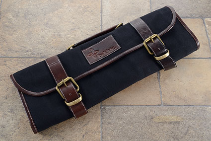 9 Slot Canvas Roll Knife Bag - Black (CKR111)