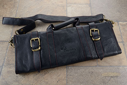17 Slot Leather Knife Bag - Black (LK124)