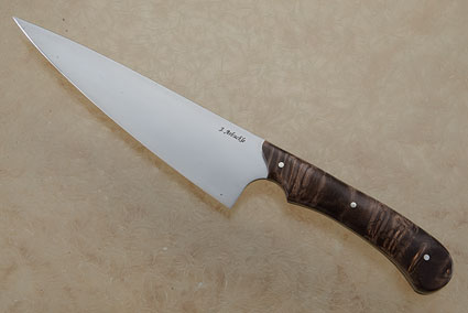 Chef's Knife with Buckeye Burl (7 1/2 inches)