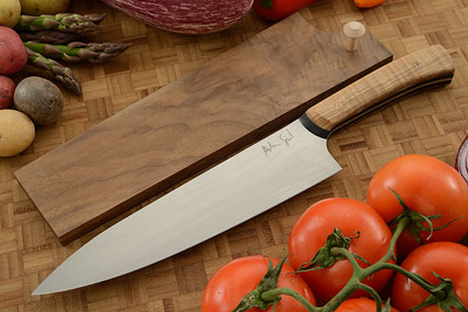 Chef's Knife (8-1/2 in.) with Curly Maple