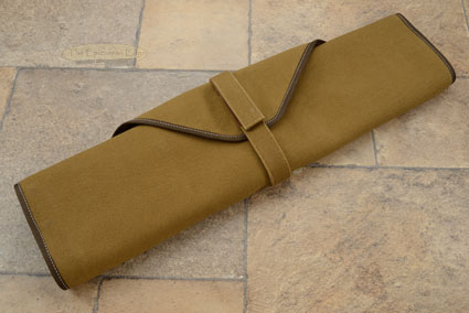 6 Slot Canvas Roll Knife Bag - Khaki (CW134K)
