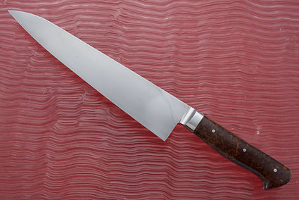 Chef Knife (Gyuto) with Redwood Burl (9-3/4 in.)