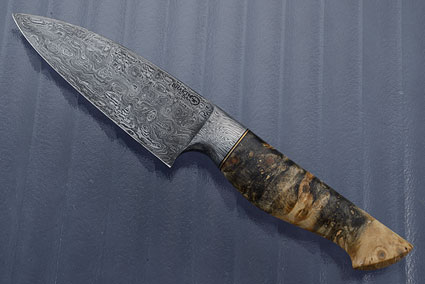 Chef's Knife (4-3/4 in.) with Buckeye Burl and Pool & Eye Damascus