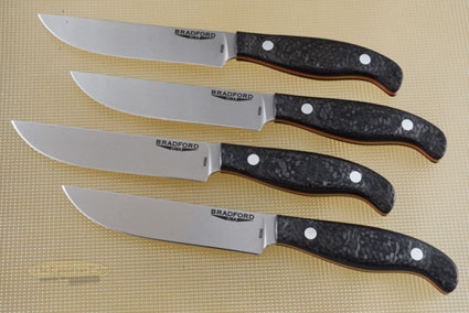 Gatsby Steak Knife with Carbon Fiber (Set of 4)