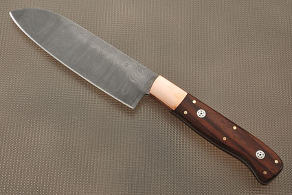 Damascus Petite Santoku (5 inch) with Cocobolo