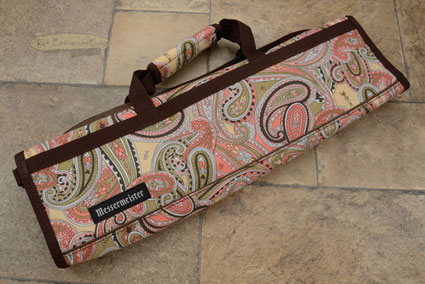 8 Pocket Knife Roll, Pink Paisley 2088-8/PP)