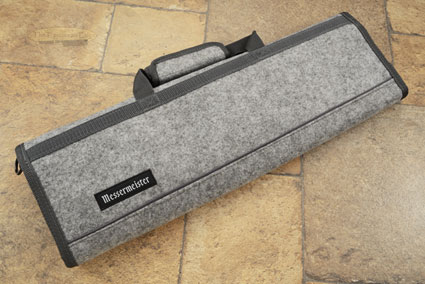 8 Pocket Knife Roll, Heather Gray Felt (1033-8/H)