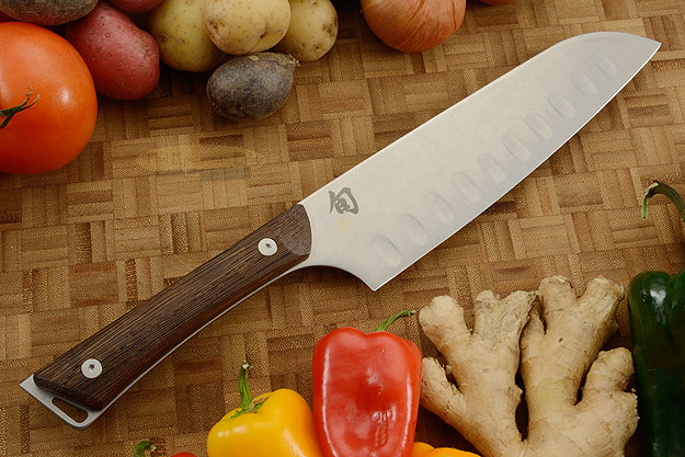 Shun Kanso Chef's Knife/Santoku, Hollow Ground - 7 in. (SWT0718)