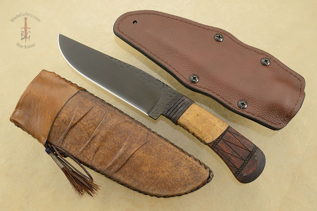 Field Knife with Maple, Tribal Markings