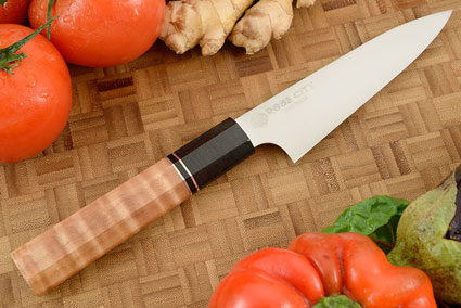 Utility (Petty) -- 5-1/2 in.  -- with Curly Maple -- AEB-L Stainless Steel
