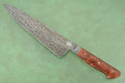 Chef Knife (Gyuto) with Red Mallee Burl and Mosaic Damascus (9-1/2 in.)
