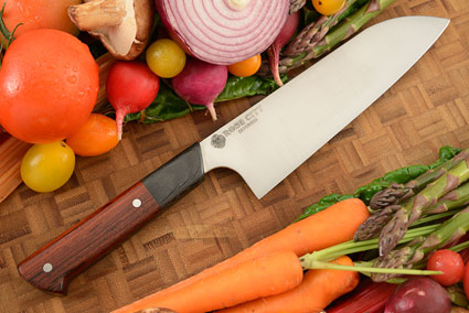 Chef's Knife (Santoku) -- 7-1/2 in. -- with Cocobolo -- AEB-L Stainless Steel