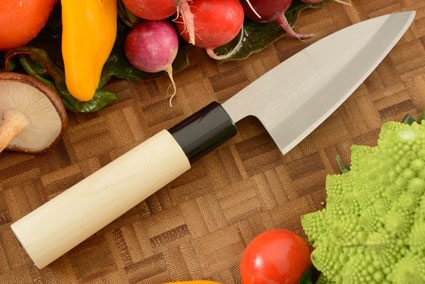 Migaki Wide Petty Knife - Petty - 4-1/8 in. (105mm) -- Shirogami 2 Carbon Steel