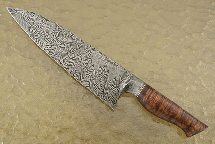 Chef's Knife (9 in.) with Curly Koa and Mosaic Damascus