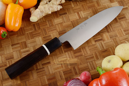 Honyaki Chef's Knife - Santoku, 180mm (7 1/8 in)