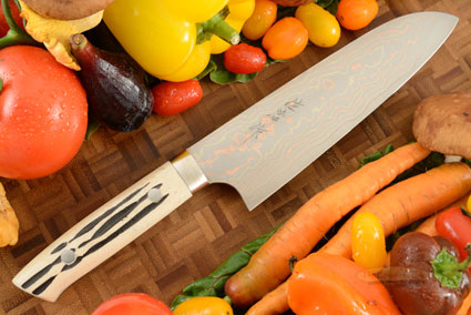 Yushoku Chef's Knife (Santoku) - 180mm (7-1/8in) - with Stag