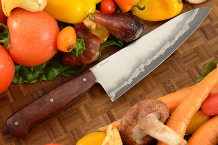 San Mai Chef's Knife (6.4 in) with Jarrah Wood