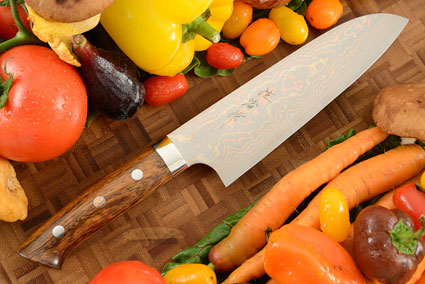 Yushoku Chef's Knife (Santoku) - 180mm (7-1/8in) - with Ironwood