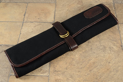 7 Slot Canvas Knife Roll - Black (CT104)
