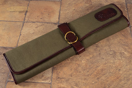 7 Slot Canvas Knife Roll - Green (CT101)