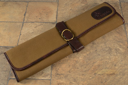 7 Slot Canvas Knife Roll - Khaki (CT105)
