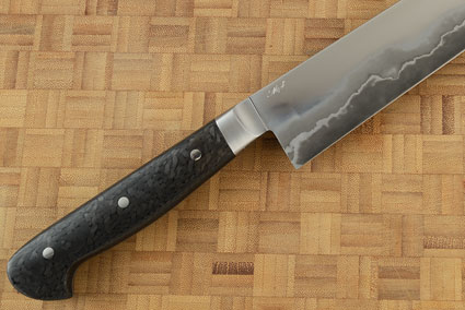 Slicing Knife (Sujihiki) with San Mai and Carbon Fiber (10-3/4