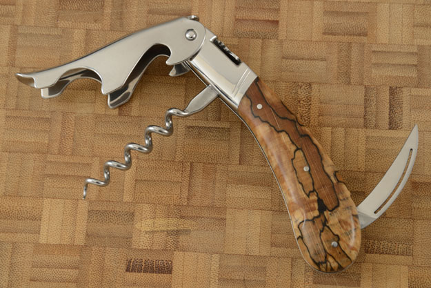Laguiole Magnum Corkscrew with Spalted Beech
